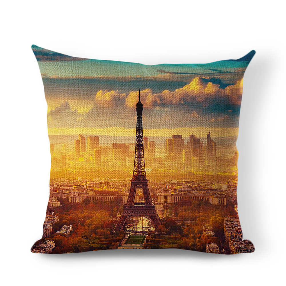 compare prices on unique throw pillows online shoppingbuy low  -  hot sale throw pillow fancy cushion effiel tower cushion sofa carchair bedroom decor square home almofadas unique canvas