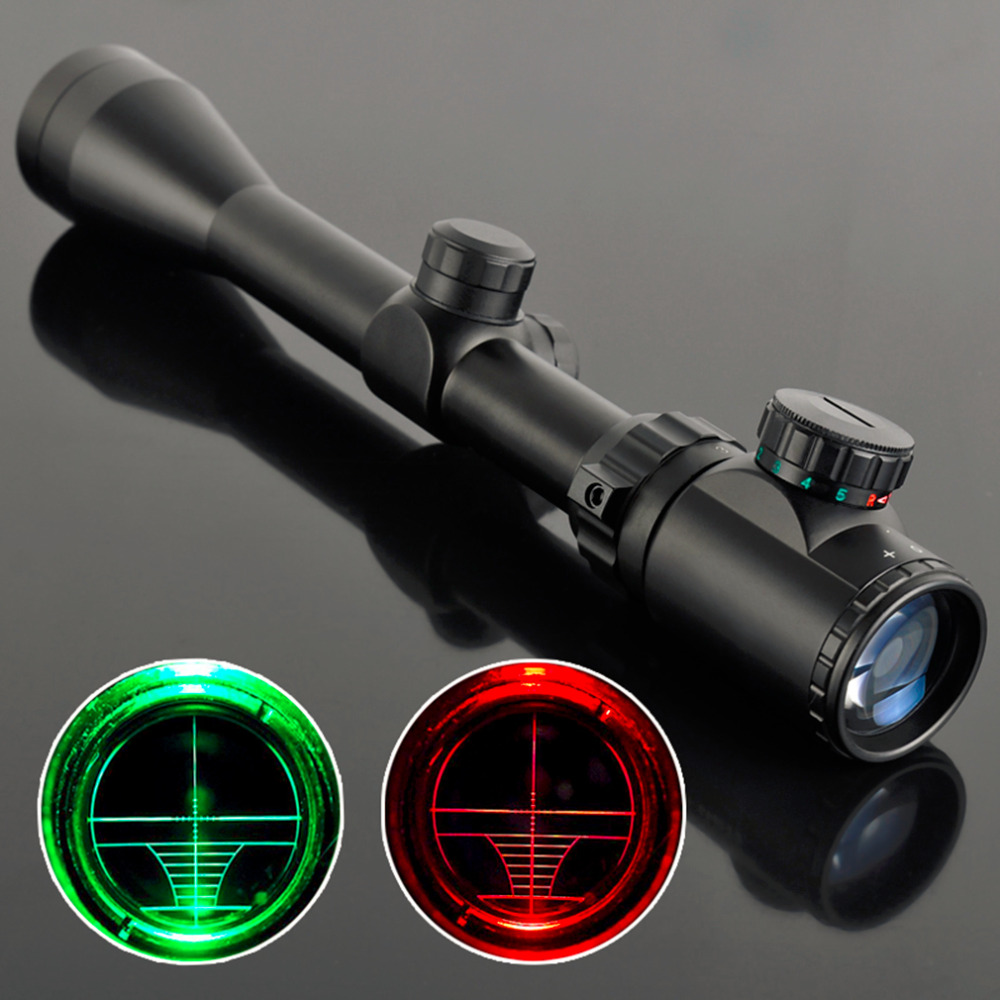 3-9x40 Riflescopes Tactical Air Rifle Optic Spotting Scopes For Hunting Camping + Adjustble Mounting Bracket Black Target Tool