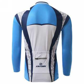 XINTOWN Winter Men Long Cycling Jersey Set Mtb Roupa Ciclismo Bike Outdoor Sportswear Riding Cycling Clothing CC0336