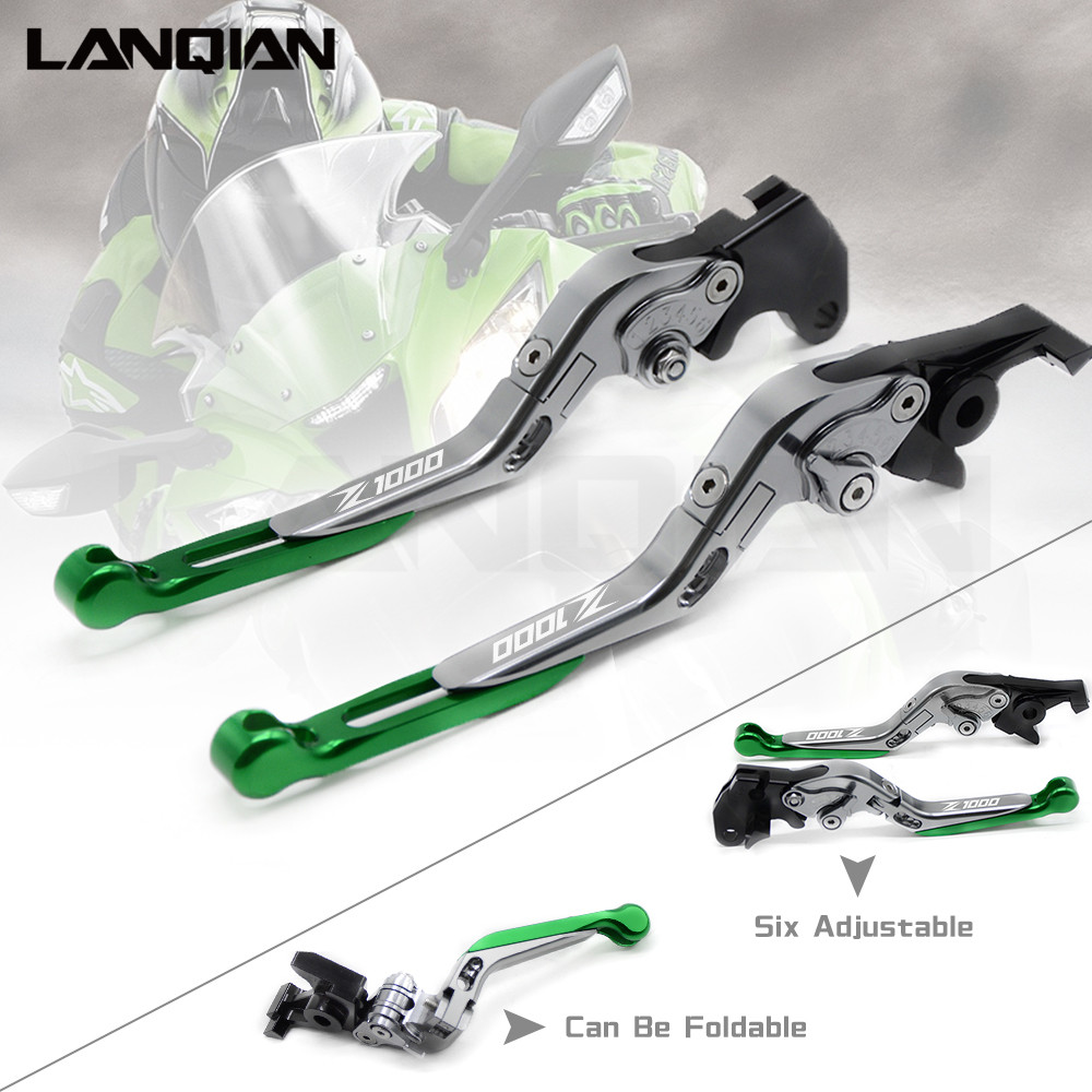 For KAWASAKI Z1000 2003-2006 CNC Motorcycle Accessories Brake Clutch Levers Adjustable Folding Extendable Lever Z 1000 With LOGO billet adjustable long folding brake clutch levers for kawasaki z750 z 750 2007 2008 2009 2010 2011 07 11 z800 z 800 2013 2014