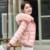 Mulheres Casacos Para Baixo Parkas Casacos 2016 Casaco de Pele do Inverno Chapéu grosso Outwear Zíperes Coats Mulheres Rosa Azul Preto Branco Cinza 3XL