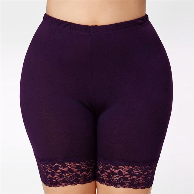 Women's Lace Trim Plus Size Yoga Panty 3 Colors S-5XL