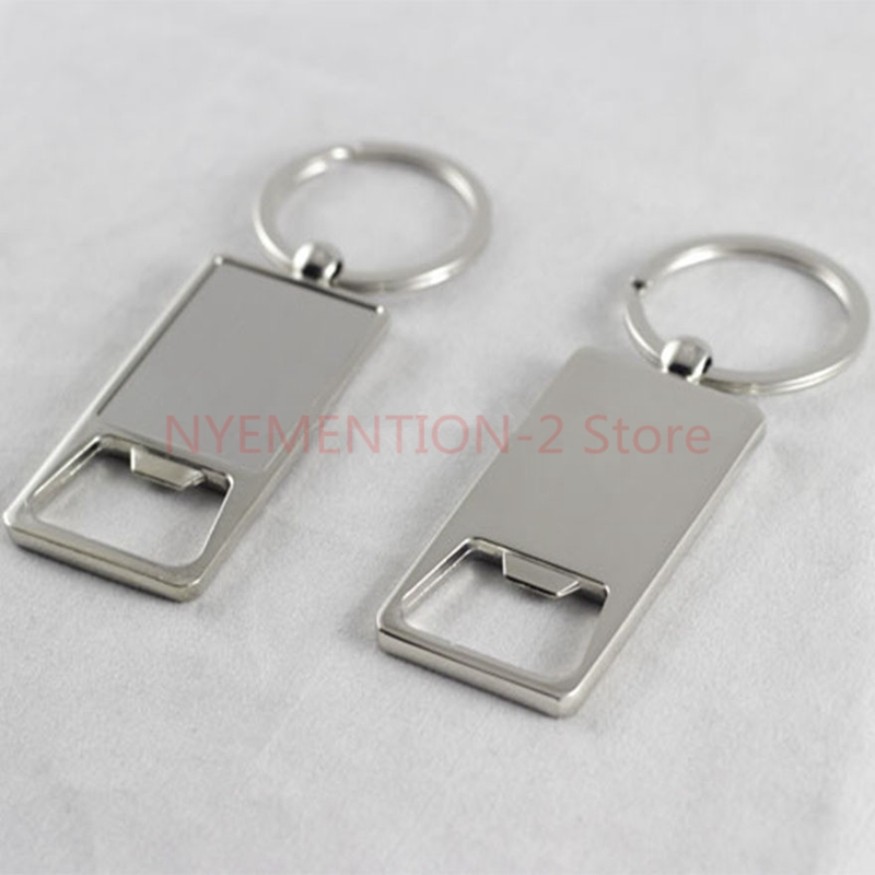 200pcs/lot Stainless Steel bottle opener Customized Beer opener key chain personalized logo print