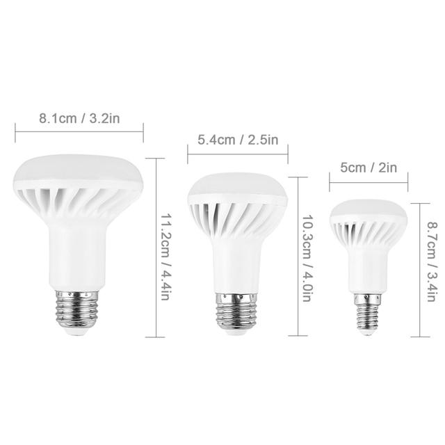 LemonBest E14 E27 LED Bulb Lamp SMD 5730 R39 R50 R63 R80 5W 7W 9W 12W LED Spot light AC 220V 110V Spotlight LED Bulbs & Tubes