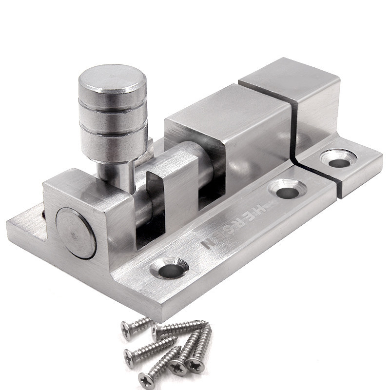 Stainless steel safety door bolts latches anti - theft lock buckle thickened stainless steel bedroom door and window latchStainless steel safety door bolts latches anti - theft lock buckle thickened stainless steel bedroom door and window latch