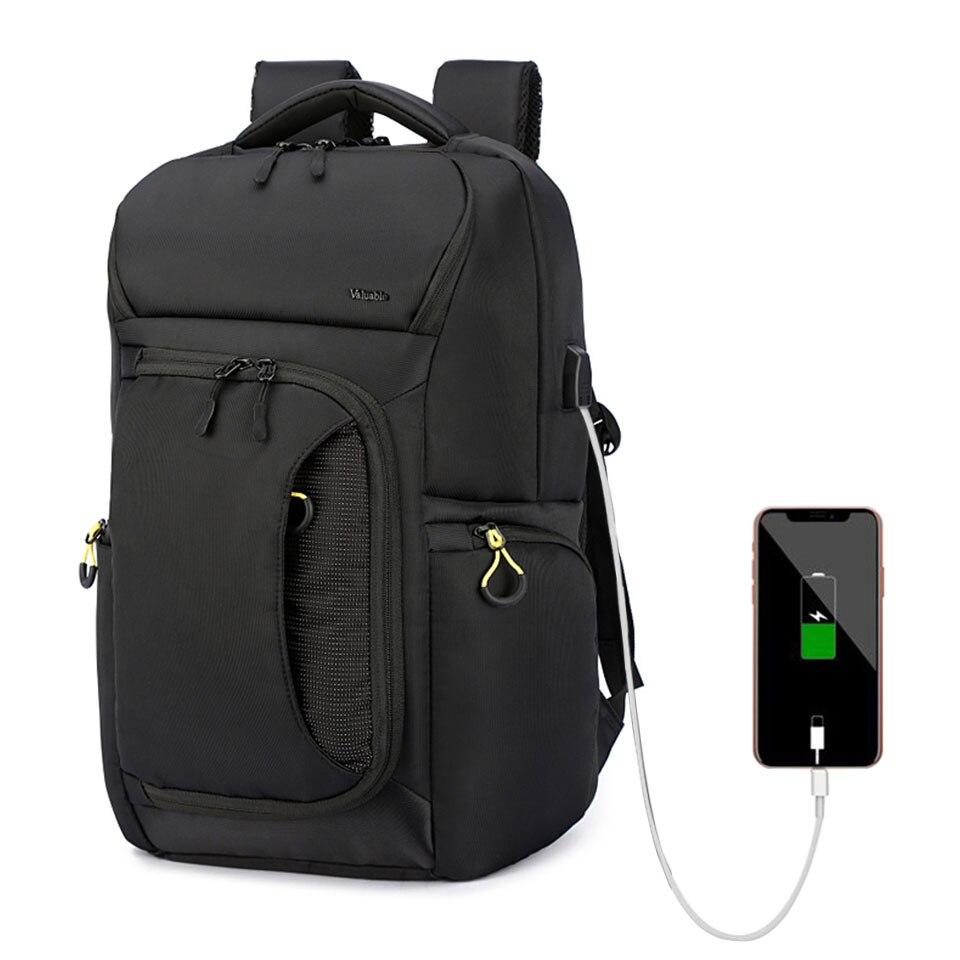 15.6 pouces ordinateur portable affaires hommes sac à dos étudiant sac à dos garçons imperméable voyage USB sacs à dos de mode hommes sacs femmes