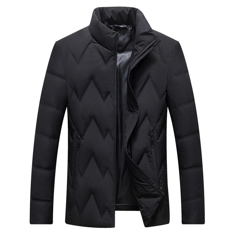 DZYS Men's Duck   Down   Jacket Slim Warm Casual   Down     Coat   for Men Male 7791