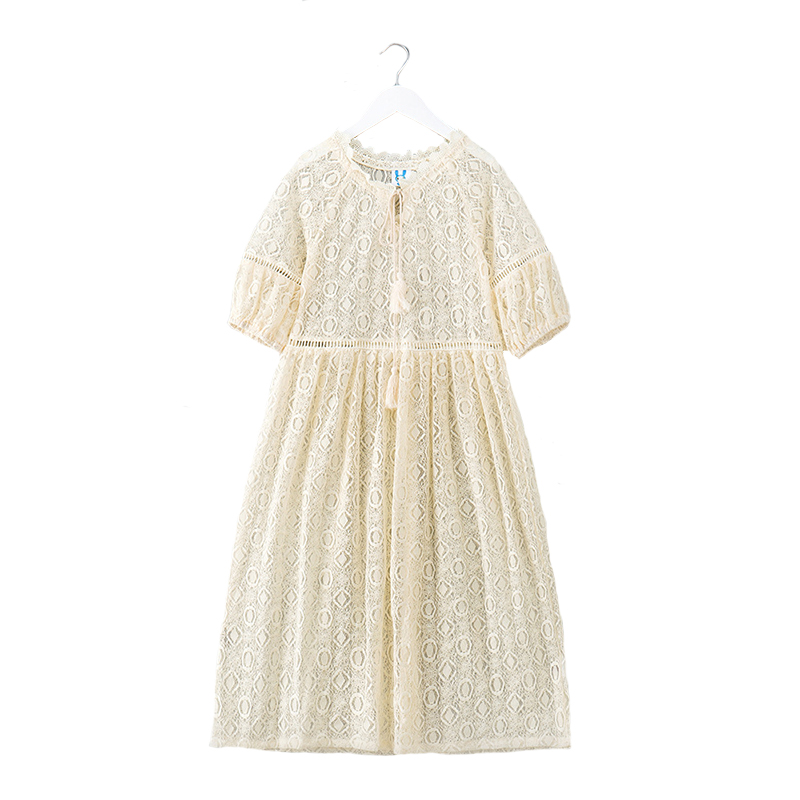 2018 Summer Girls Dress Children Princess Dresses Kids Lace Clothing Long Style Big Girls Party Costum High Quality 6Y-14Y high quality girls baby bright leaf long sleeve lace dress princess bud silk dresses children s clothing wholesale