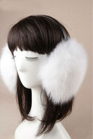 Inverno 9 cores genuine Fox fur Earmuffs tampa de cobertura ouvido mais quente do ouvido caps atacado transporte da gota