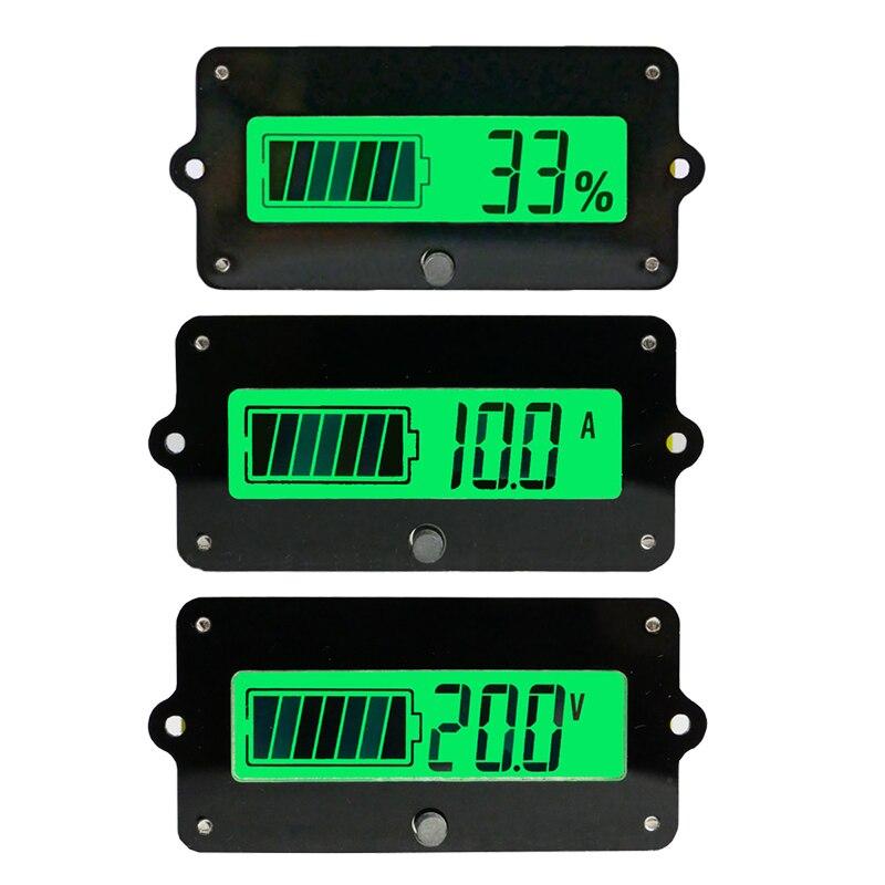 Entusiasta Ty02 Coulomb Meter 80 V 50a 100a Lcd Batteria Al Litio Lifepo4 Al Piombo Ferro Monitor Detector Rimanente Indicatore Di Capacità Tester