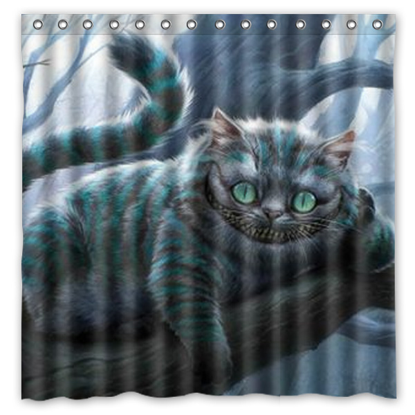 Bathroom ProductsThe Cheshire Cat Of Alice In Wonderland Printed Waterproof Polyester Shower Curtain Bath 180X180CM Curtains From Home