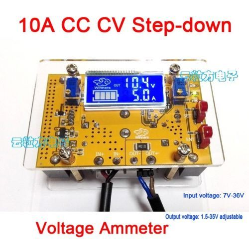 LCD 10A DC CC CV Ajustável Poder Step-down LED driver de carregamento da bateria 5 v 12 v