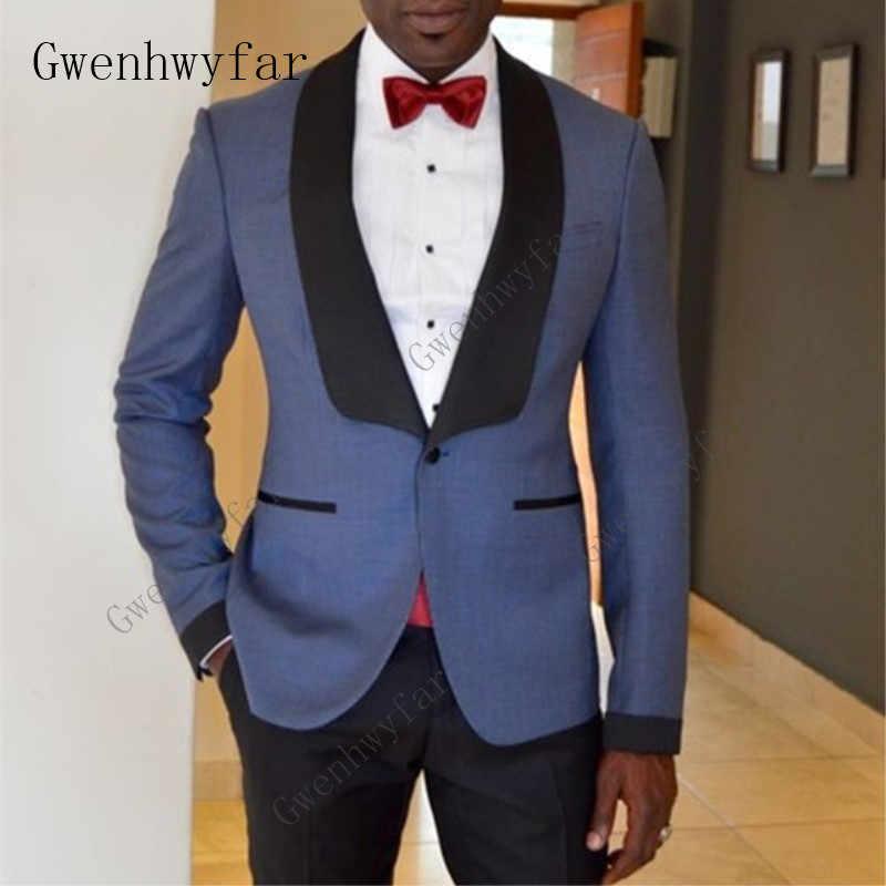アイボリーファッションスーツは、カスタム男性白ブレザーとパンツメンズ商務スーツのための結婚式のタキシード仕立て新郎スーツ