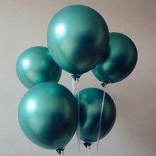 15pcs/lot 12 inch 3.2g green metal balloon decors wedding ballons birthday party supplies inflatable helium ballos kids toys
