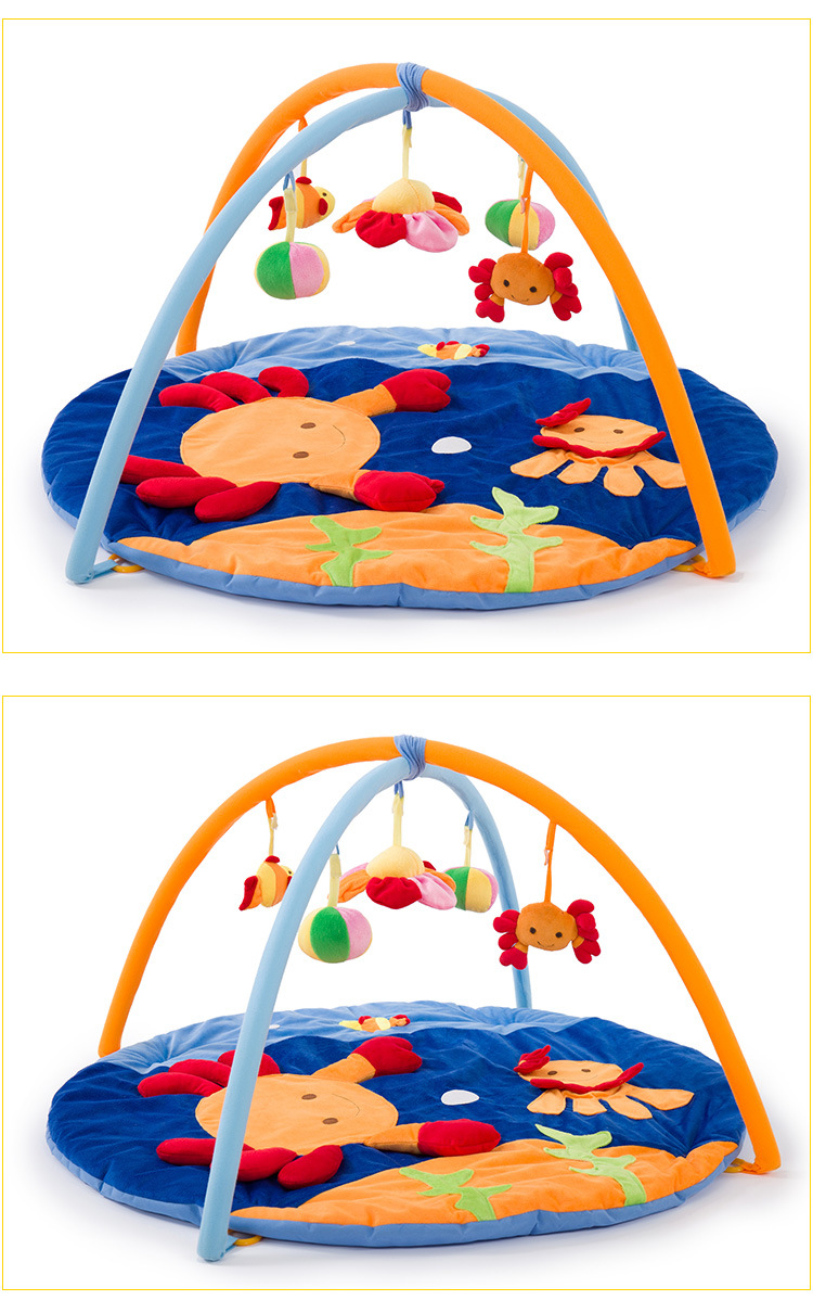 New Design Small Crab Blue Soft Baby Play Mats Baby Kids Educational Toy Play Activity Gym Blanket Indoor Sports Crawling Pads 1