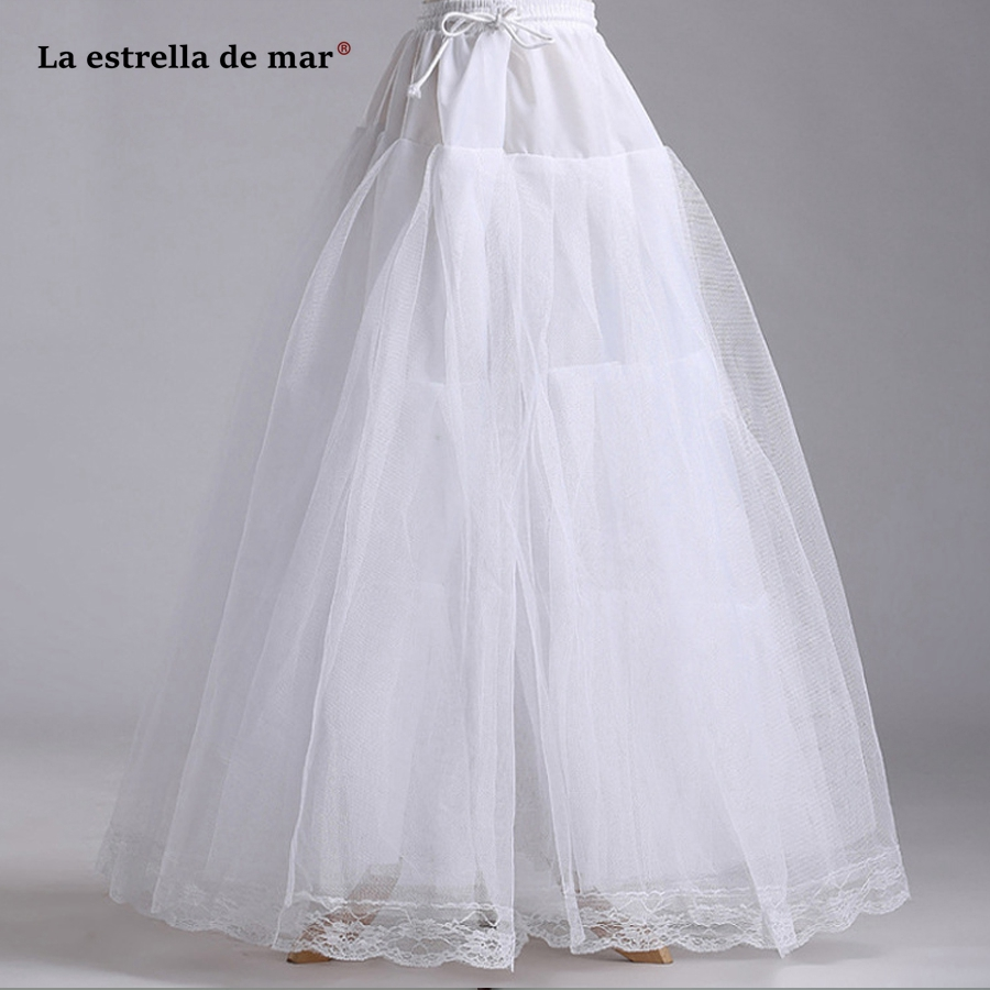 Trustful La Estrella De Ma Wedding Accessories Hot Sale 100cm White Tulle Petticoat Long Cheap Enaguas Para El Vestido De Boda