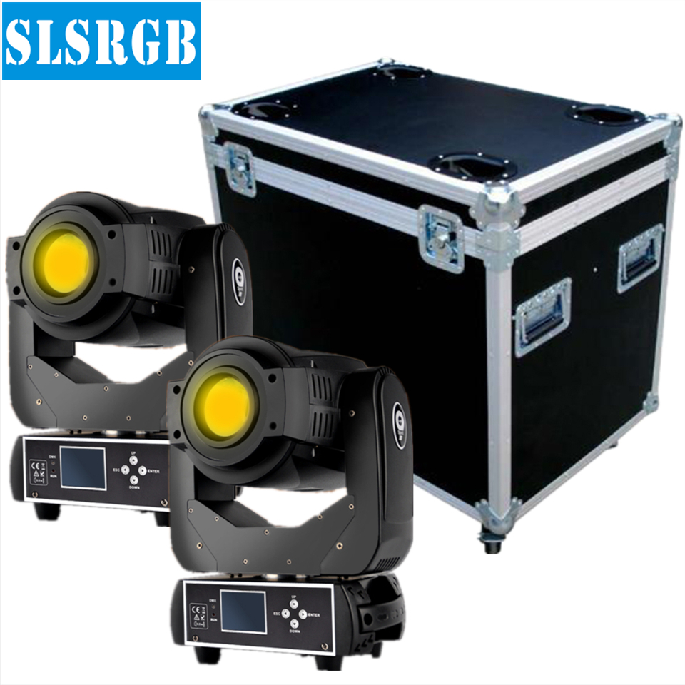 Flight Case 2in1 For 2XLOT 90W Gobo LED Moving Head Light 3 Face Prism With LCD Display DMX Controller 6/16 Channel High Quality