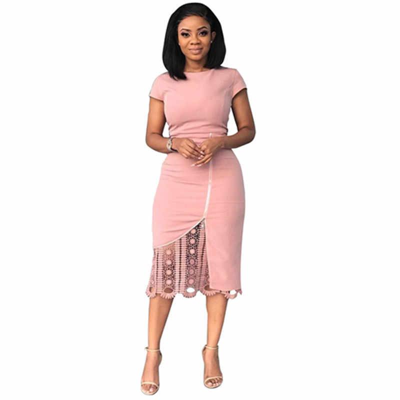 2018 офисные женские туфли брошь осень зима для женщин платья для кружево молния Высокая талия модные повседневное пикантные Bodycon бинты