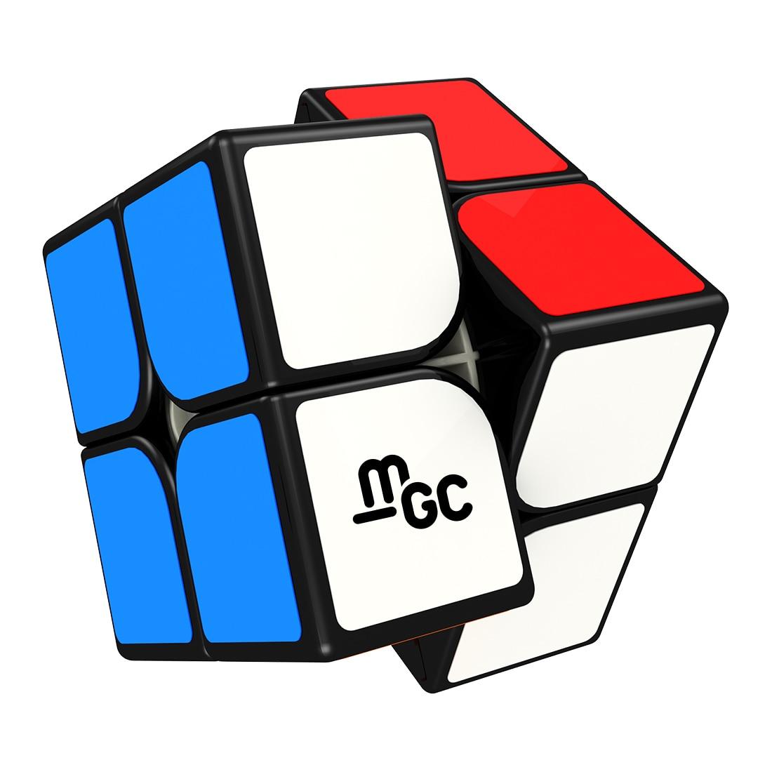 Rätsel & Spiele Vornehm Yongjun Magnetische Version Mgc 2x2 Zauberwürfel Pädagogisches Spielzeug Für Gehirn Training-schwarz