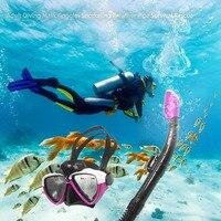 Silicone Adult Snorkel Set Diving Mask Swim Scuba Goggles Snorkeling Breather Pipe Survival Rescue AM206GP+408