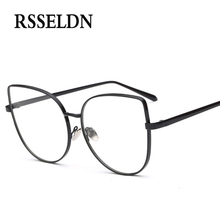 RSSELDN Newest Women Optical Glasses Frame Cat Eye Eyeglasses Frames Brand Designer Clear Lens Vintage Glasses oculos