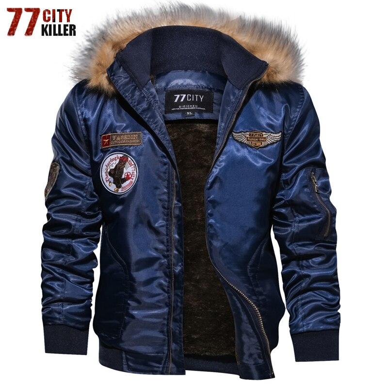 Бренд Курточка бомбер Для мужчин плюс Размеры 4XL густой шерсти зимние rmy военный мотоцикл куртка Для мужчин пилот куртка брюки-карго верхняя...