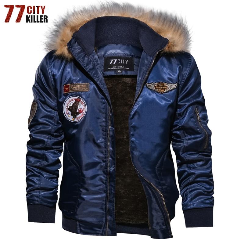 Winter Bomber Jacket Men Windbreaker Thick Fleece Army Military Motorcycle Jacket Men's Pilot Jacket Coat Outwear Plus Size 4XL