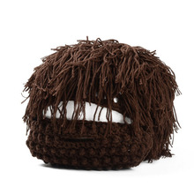 Knitted Cap Set (with beard)