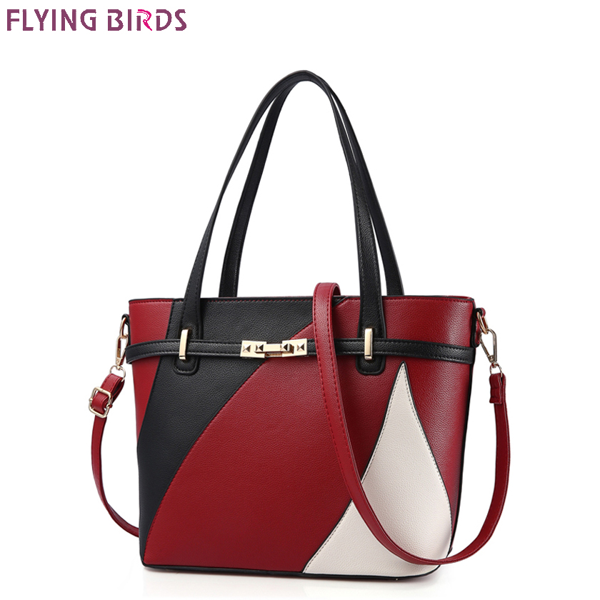 FLYING BIRDS Patchwork Handbags Ladies Design Handbag Women Messenger Bags Famous Brands High Quality Bolsas Mujer Shoulder Bag famous brand high quality handbag simple fashion business shoulder bag ladies designers messenger bags women leather handbags