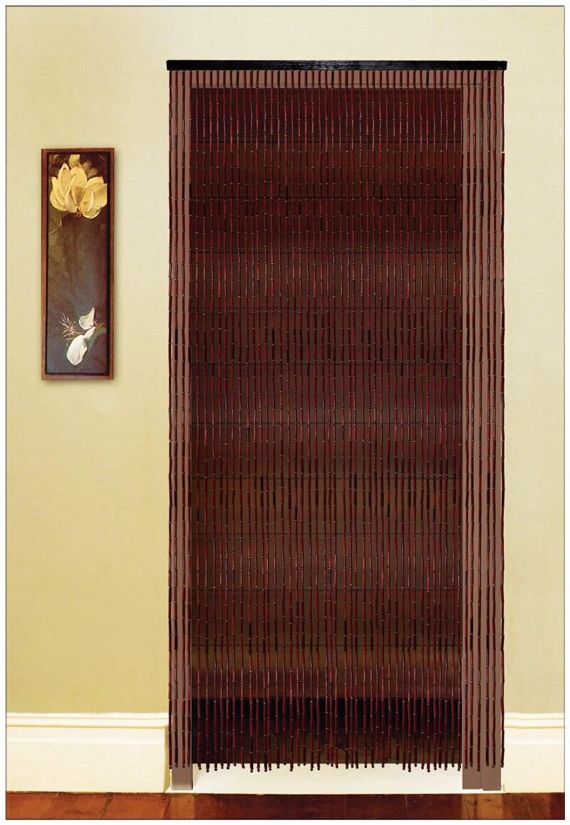 Bamboo bead door curtain - Chinese Fashion Bead Door Curtain Feng Shui Bead Curtain Bamboo Wooden Bead Door Screen