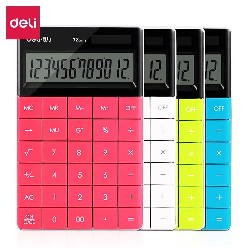 все цены на Deli Lcd Display Digits 12 Digit Ultra Slim Transparent Solar Calculator For Student School Office Tudents Children Gift 40D1589 онлайн