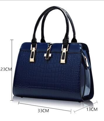 eeb1964b10 ... Elegant Alligator Patent Leather Women Handbag Big Women s Shoulder  Bags Cross Lock Design Lady Tote Handbag. Facebook · Pinterest · Twitter