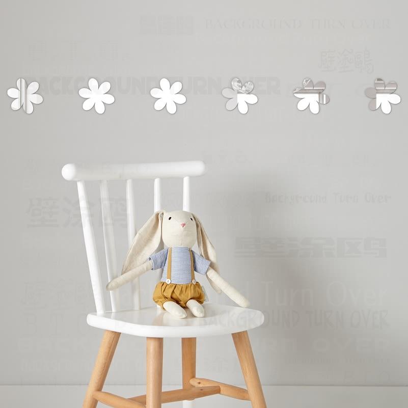 ̿̿̿(•̪ )Divers DIY peu mignon fleur amovible décoratif miroirs ...