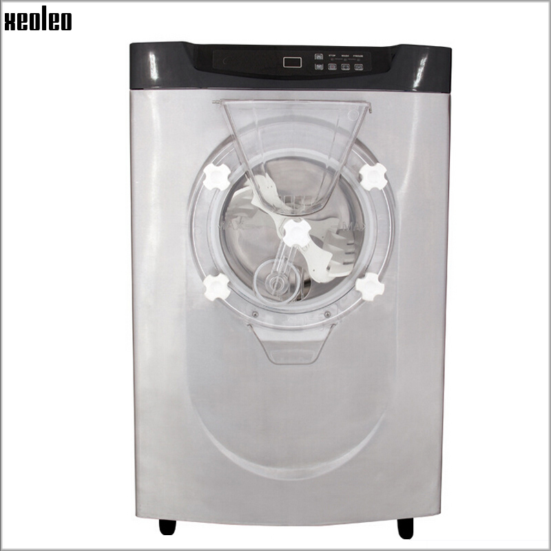 Xeoleo Commercial Hard Ice cream maker 20-24L/H Ice cream machine Stainless steel Hard ice cream maker 2000W/220V/R22 xeoleo commercial induction 3500w stainless steel induction cookers with timing for hotpot soup stewing stir fly