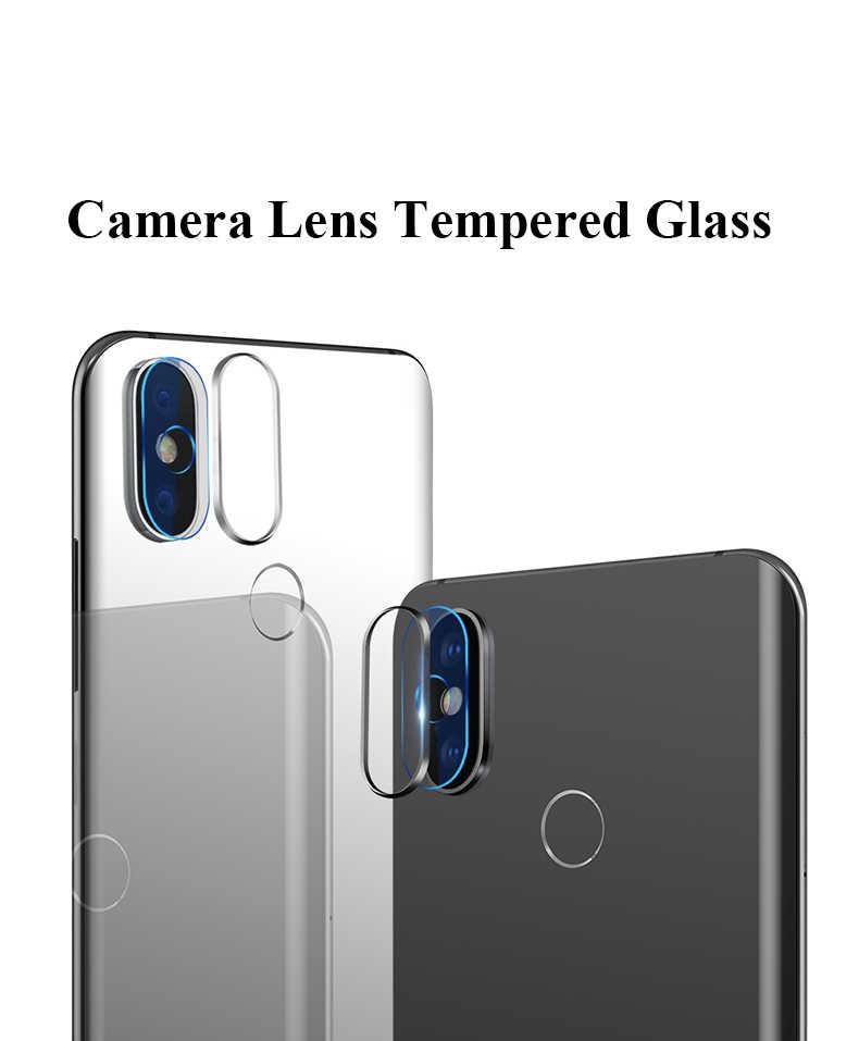 2 قطعة الخلفي كاميرا عدسة كامل الزجاج المقسى ل شياو mi mi 8 SE A1 5X8 A2 لايت 6X A2 ماكس 3 mi x 3 2 2 S Pocophone F1 كاميرا فيلم