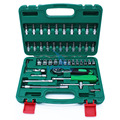 46PCS Socket Sleeve Wrench Combination Set Motorcycle Vehicle Repair Tool Kit 6.3mm Ratchet Handle Wrench Tool