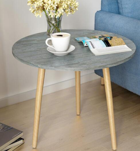 60*52CM Living Room Corner Table Round Dining Table Modern Coffee Table Sofa Side Tea Table