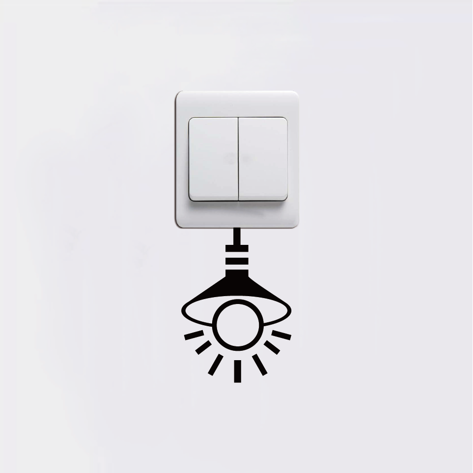 Conserve Electricity Us 48 31 Off Turning Off Lights To Conserve Electricity Vacancy Tips Switch Stickers Home Decoration Shop Available Colors In Wall Stickers From