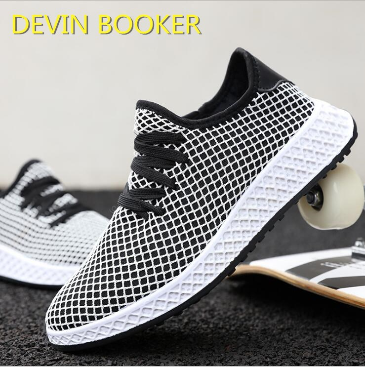 New listing hot sale spring summer fly weave net Breathable men running shoes sports shoes