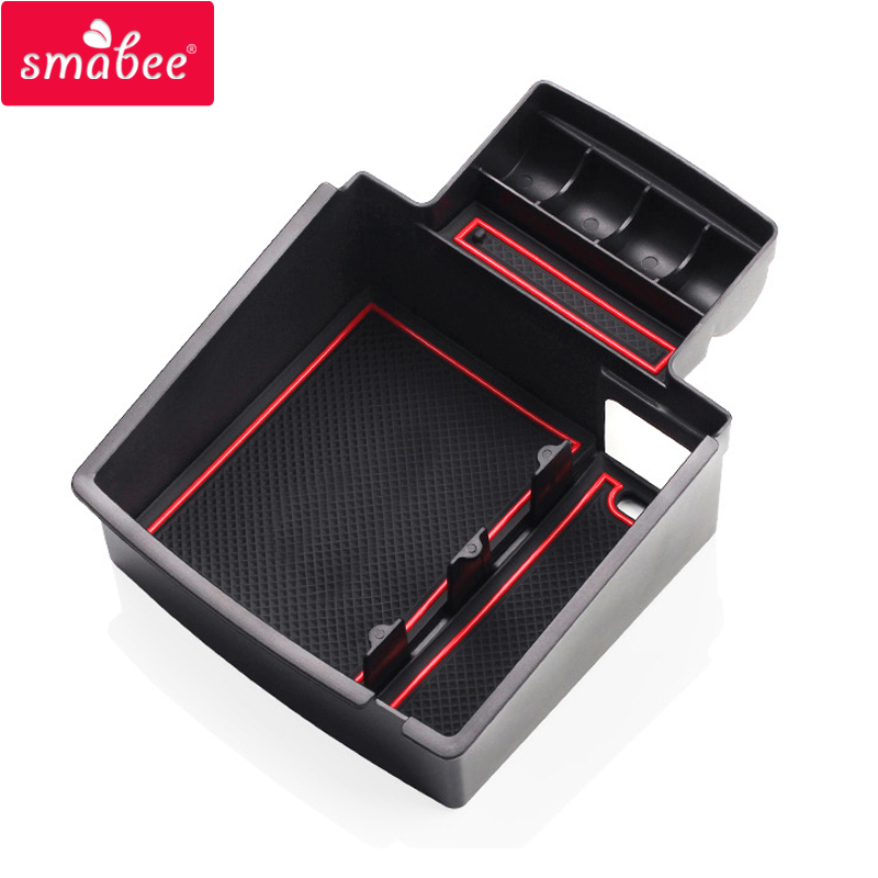 smabee Car Central Armrest Box storage box For AUDI Q5 Q3 2009to2017 Interior Accessories Stowing Tidying Center Console Tray