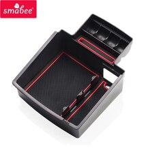 Smabee автомобиля центральный подлокотник ящик для хранения для Audi Q5 Q3 2009to2017 Салонные аксессуары Средства ухода для автомобиля центральной консоли лоток