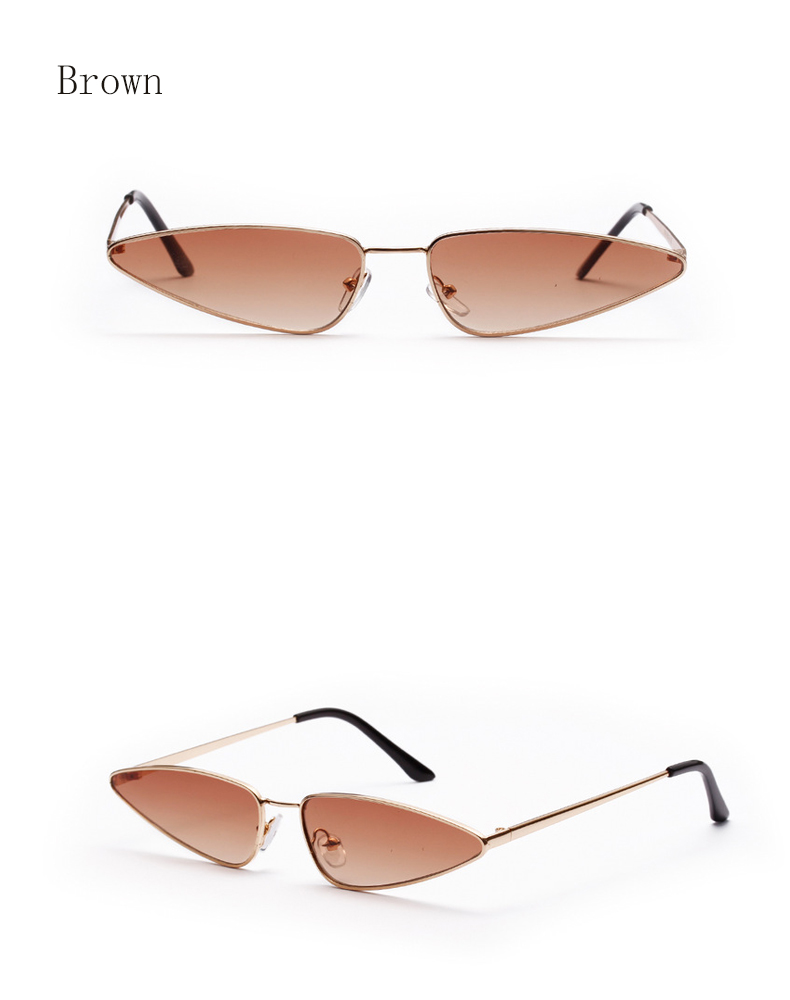 Ralferty 2018 New Small Cat Eye Sunglasses Women Trendy Vintage Triangle  Sun Glasses For Women Mini Eyewear Accessories W18180 d734a3474a