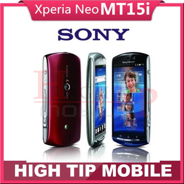Abierto original sony xperia neo mt15i 8mp 3.7 pulgadas de pantalla táctil android gps wifi 3g reformado 1 año de garantía