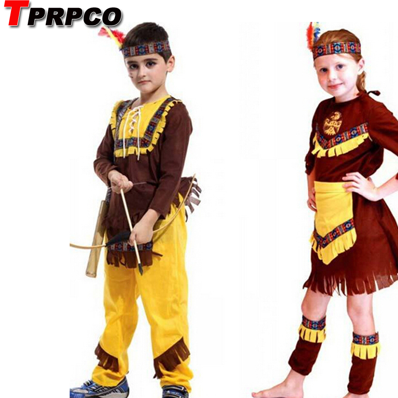 Halloween Carnival Party Indian Prince Hunter Costumes For Children Kids Boys Fantasia Boy Movie Cosplay Costumes NL170