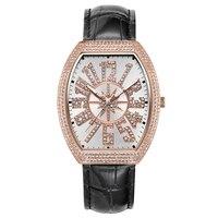 Старинные женские часы розовое золото кварцевые часы женские часы брошь Полный алмаз водостойкий женский настольный Бренд роскошные часы