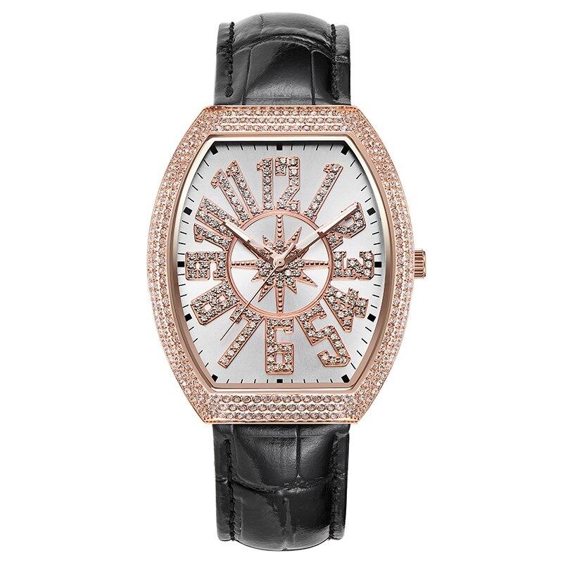 Vintage montre pour femme montre quartz rose or robe de femme Montre Plein de Diamants Étanche Tableau Féminin Marque montre de luxe Grand Cadran
