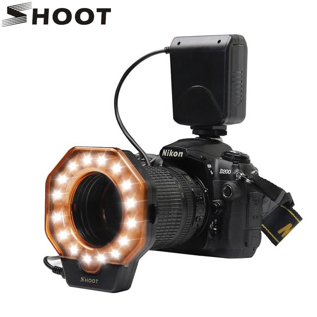 shoot led macro ring light for nikon d5100 d3100 d7000 d2 d3 d70