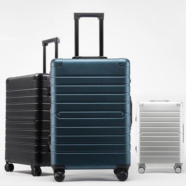 """Conto de viagem de alumínio barato mala viagem 24 """"spinner 20"""" caso do trole da bagagem do negócio na roda 3"""