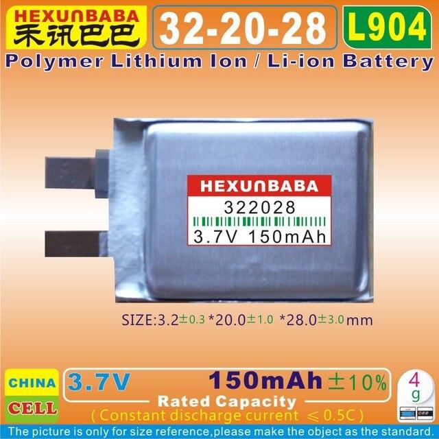 4 [L904] 3.7 V 150 mAh năm [[322028]] Pin Li-ion Polymer cho TOMTOM AHA11111008, dây đeo thông minh; AHB322028, Smart watch; Runner Cardio