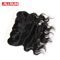ALLRUN Hair 13 4 Brazilian Body Wave Lace Frontal 100 Different Size Human Hair Weaving